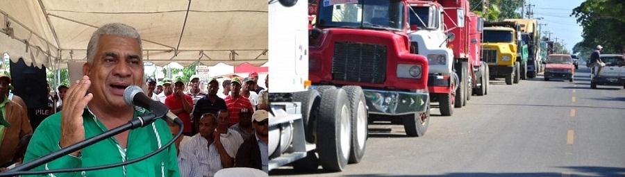 camioneros en huelga