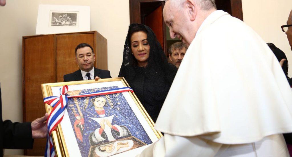 primera dama visita el papa