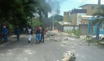 protestas en barahona por carretera