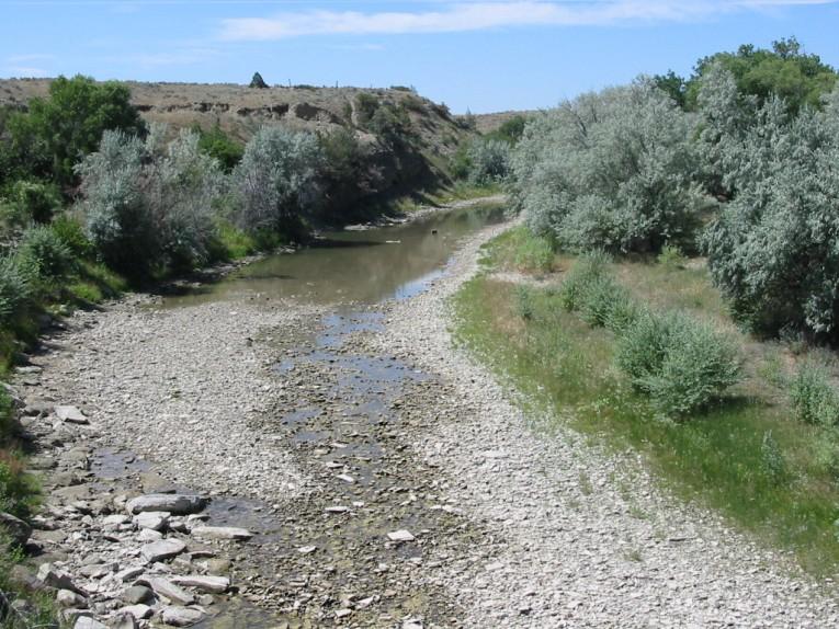 rio secandose