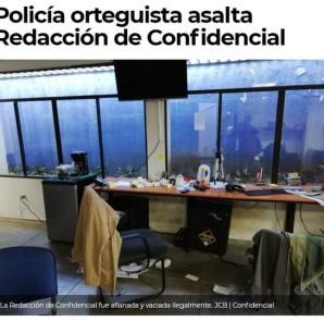 asalto a periodico opositor en nicaragua