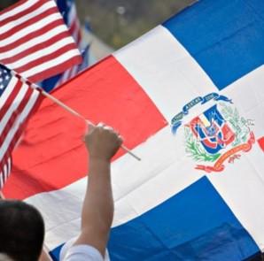 banderas dominicanas y usa