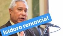 isidoro renuncia